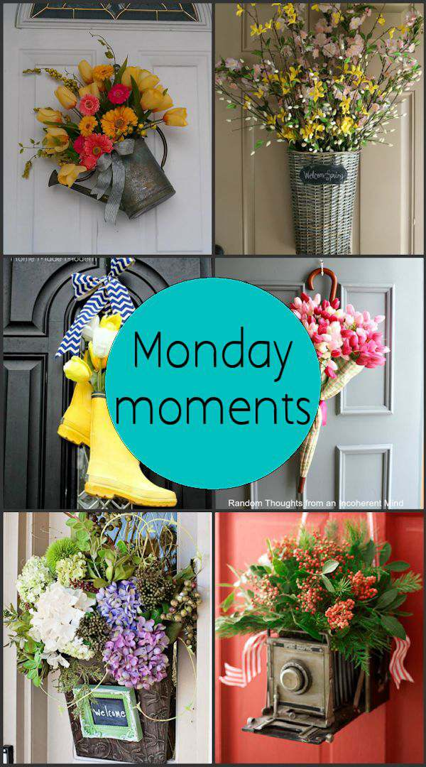 Monday Moments with Spring Door Decor That Aren't Wreaths