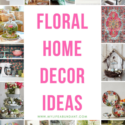 Beautiful floral decor ideas for any home from ceiling to floor to inspire your creativity. Rugs, pillows, wallpaper, dishes and more.