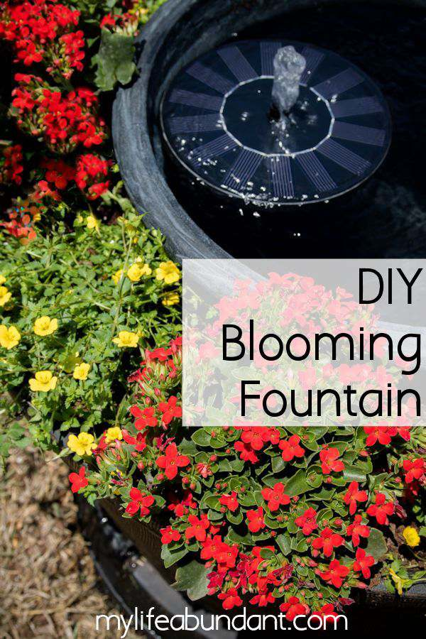 DIY Blooming Fountain