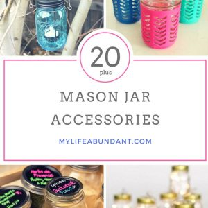 Love Mason Jars, then you will love Mason Jar accessories. These are perfect for the kitchen and throughout the home