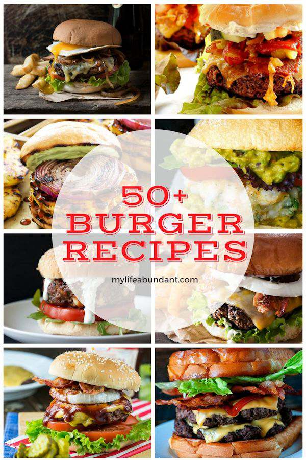 Who doesn't love a good burger. Whether its the classic beef burger or a veggie version, this list of 50+ has a recipe for everyone.