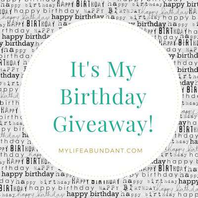 It's My Birthday Giveaway!