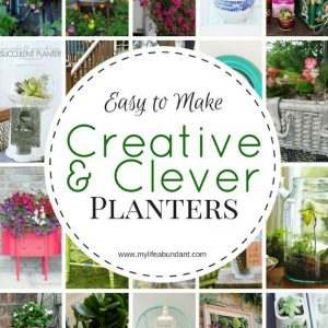 Looking for whimsical, creative or clever planters for some of your plants. Check out this list of some really cute ideas.