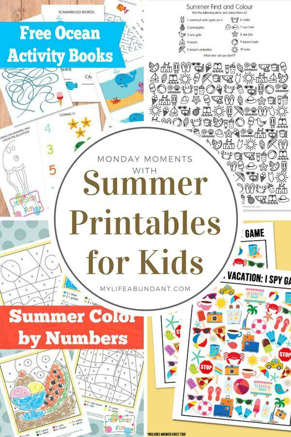 Monday Moments with Summer Printables for Kids
