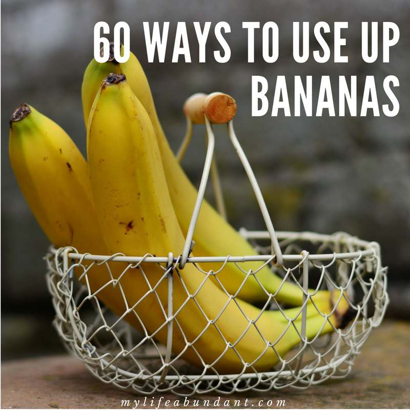 Here is 60 recipes of every kind to use up ripe bananas we all seem to accumulate in the home. Desserts, breakfast, smoothies, snacks, breads