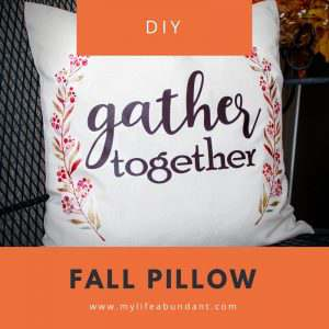 DIY Fall Pillow