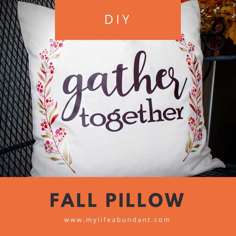 Learn to make an easy and adorable DIY Fall Pillow perfect for this time of the year. No sewing required, just ironing.