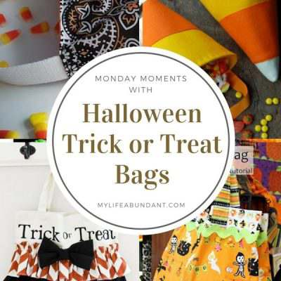 Monday Moments with Halloween Trick or Treat Bags