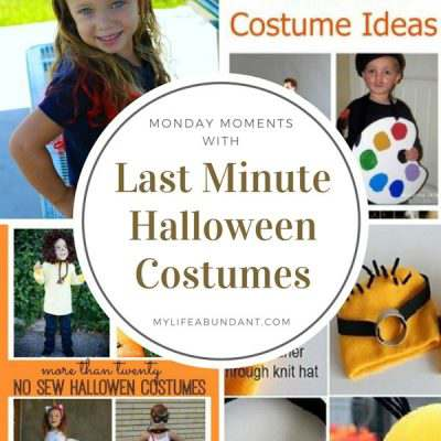 Monday Moments with Last Minute Halloween Costumes