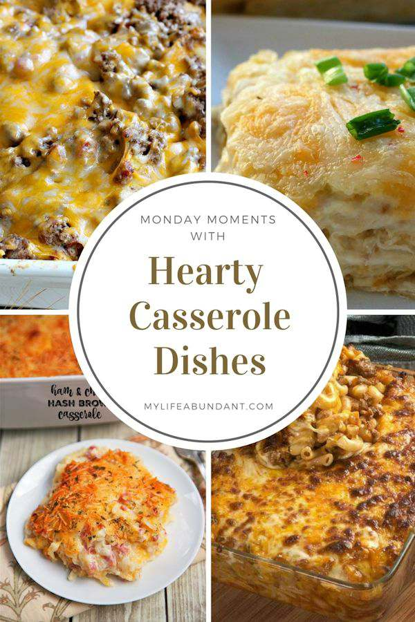 Looking for some really good hearty casserole recipes? Check out this list of easy to make and prepare early to just pot in the oven.