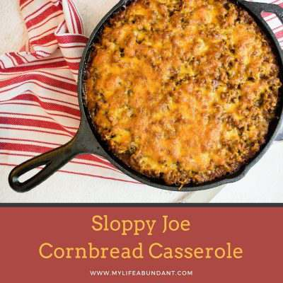 Sloppy Joe Cornbread Casserole