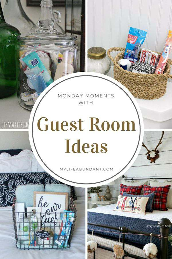 Guests coming to visit for the holidays? Take a look at a few ideas of how to prepare your guestroom and holiday decorating.