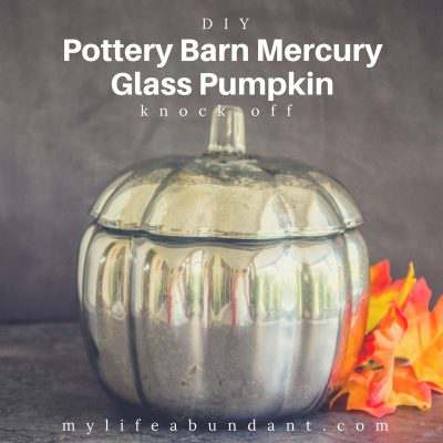DIY Pottery Barn Mercury Glass Pumpkin Knock Off
