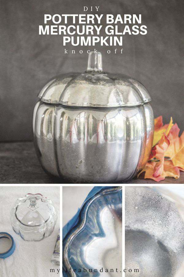 Love mercury glass but hate the price you have to pay. Learn how to make your own mercury glass pumpkin for the holidays