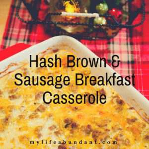 Need a filling and hearty breakfast casserole for the holidays or when company is coming over? Try Hash Brown & Sausage Breakfast Casserole