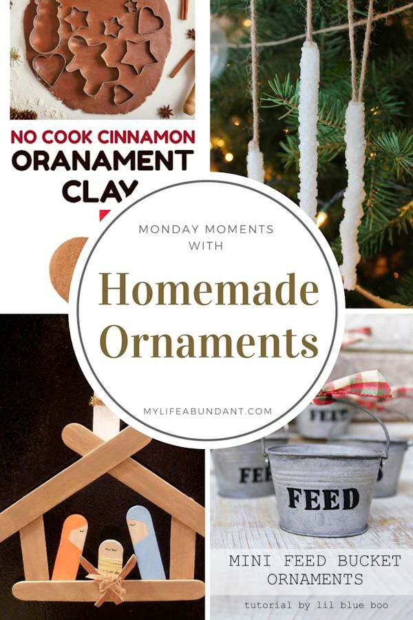 Looking for ideas to make homemade ornaments for gifts or fun time with family and friends? Here are a few ideas to try.