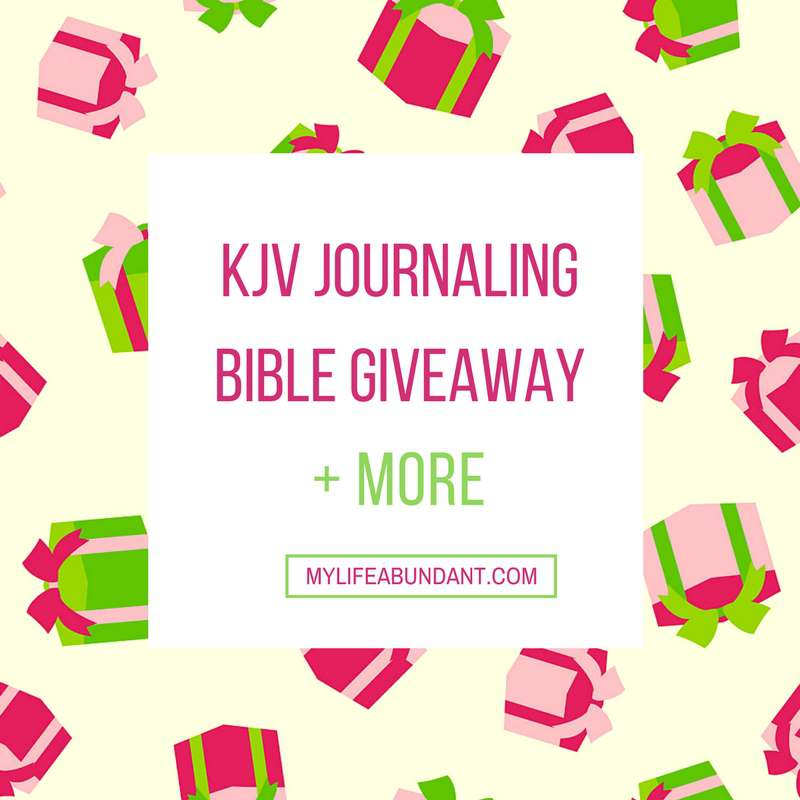 Come and join the KJV Journaling Bible Giveaway and so much more in this package. Its a great way to start your bible journal.