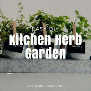Are you ready for spring to show up? How about making this really quick Kitchen Herb Garden to have in your home.