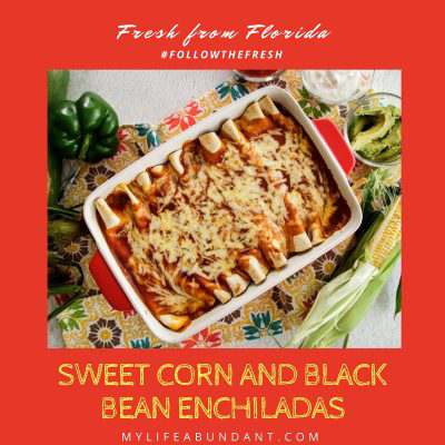 Sweet Corn and Black Bean Enchiladas