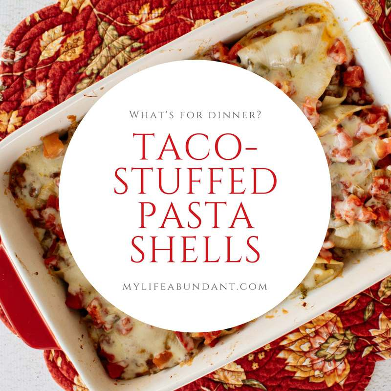 Looking for an easy South of the Border flavor in your next casserole? How about Taco Stuffed Pasta Shells? The whole family will enjoy this dish.