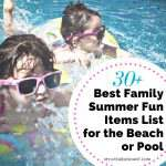 Best Family Summer Fun Items List for the Beach or Pool