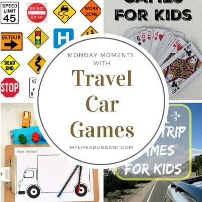 Monday Moments with Travel Car Games