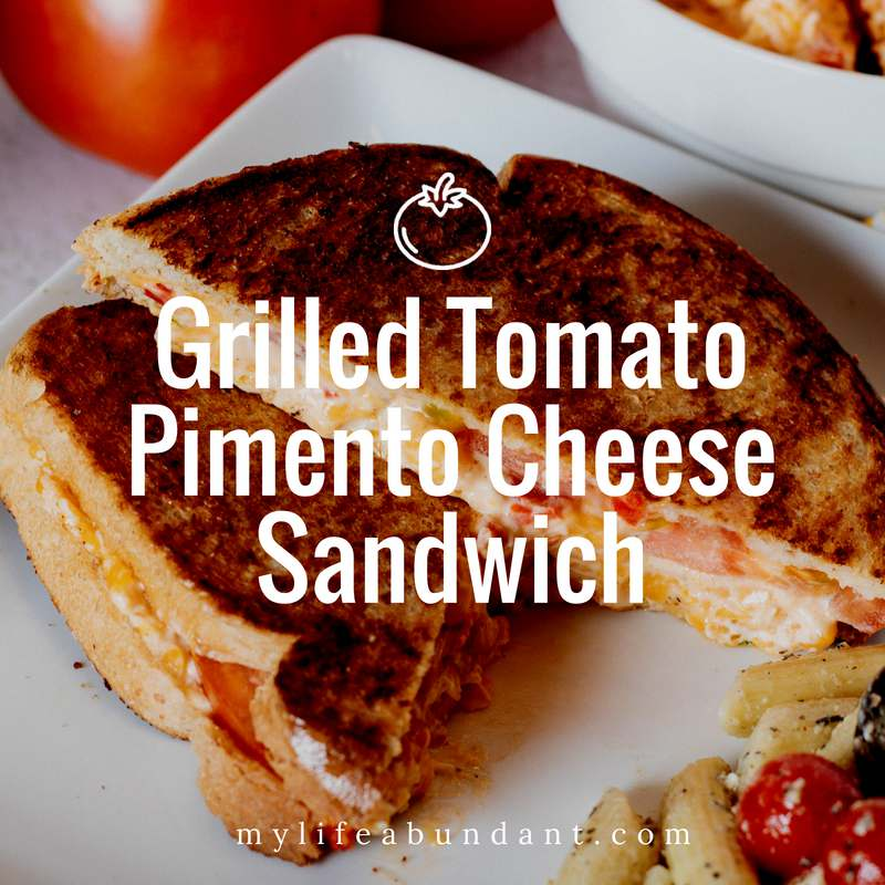 Tomatoes are in season and pimento cheese is a summer favorite. So why not combine the two for a new twist on a classic sandwich.
