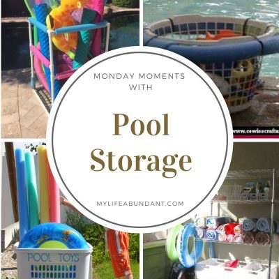 Monday Moments with Pool Storage
