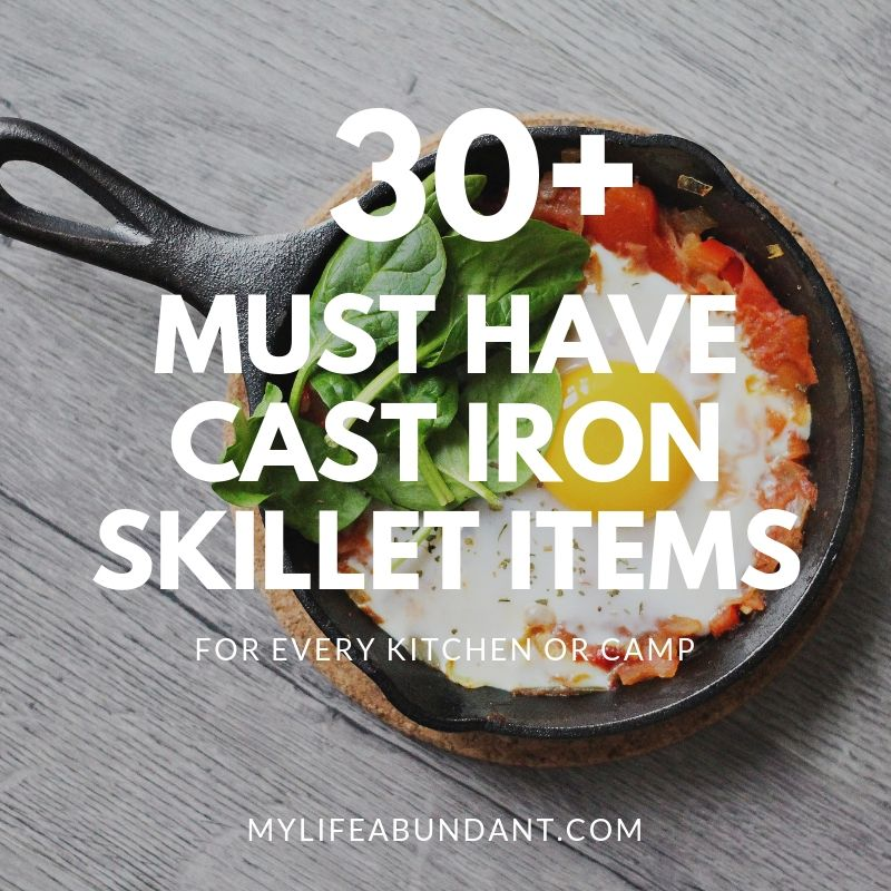 The popularity of cast iron skillets are growing and cooking with cast iron skillets has never been easier now with all these accessories to use either at home or camping.
