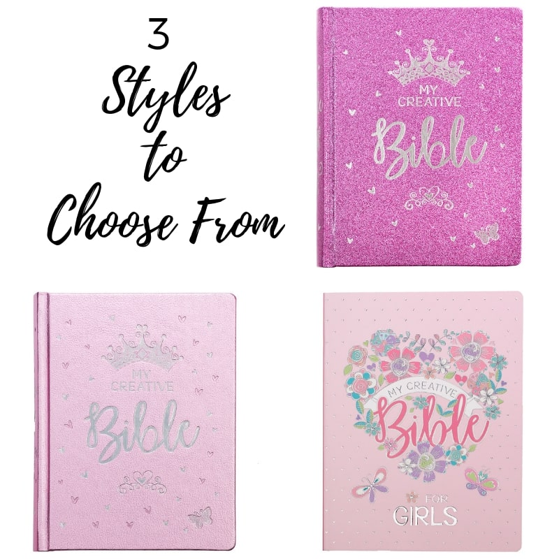 My Creative Bible for Girls is an illustrated journaling Bible, wonderfully designed to help young girls to grow closer to God through art and creativity.