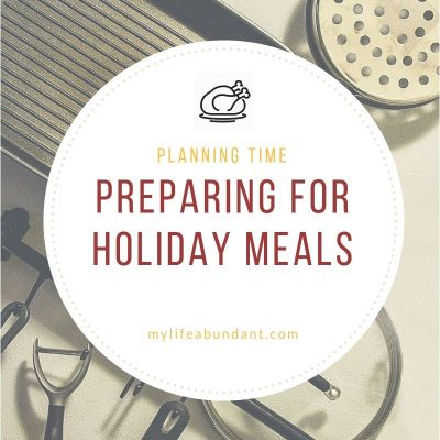 Preparing for Holiday Meals