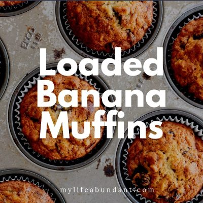 Loaded Banana Muffins