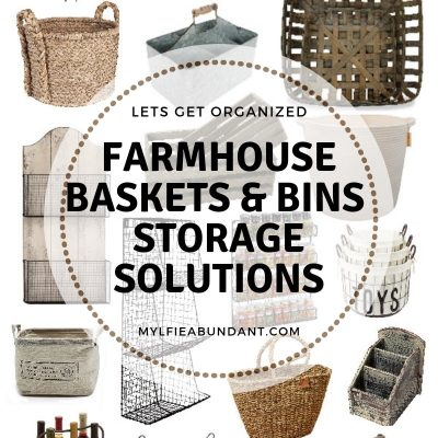 Farmhouse Baskets & Bins Storage Solutions