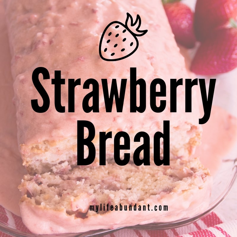 When strawberries are in season, try this quick strawberry bread recipe with a melt in your mouth glaze for the top.