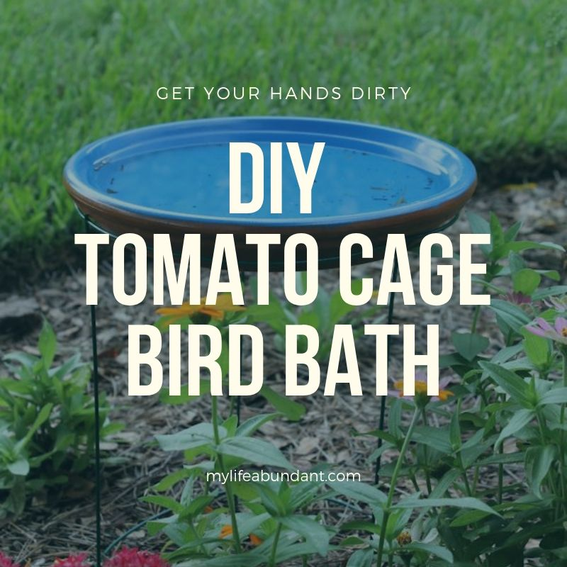 Looking for a very easy way to make a bird bath? All you need is a few garden items and this DIY project done in minutes