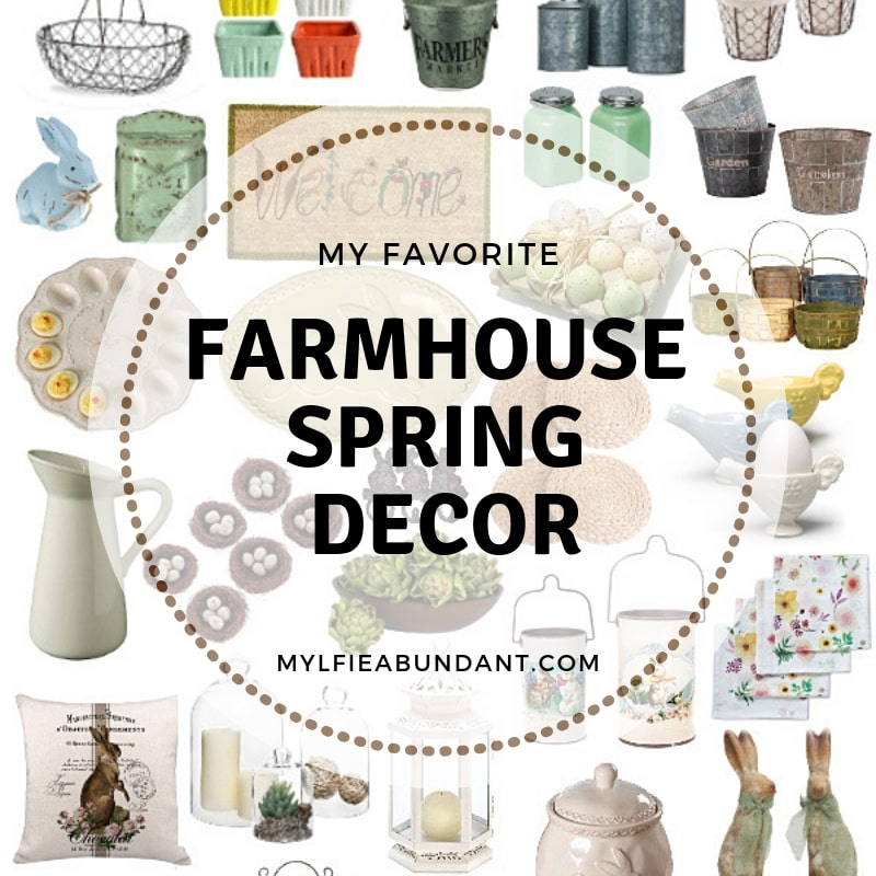 Easily bring a little touch of farmhouse spring into your home and freshen up your space!
