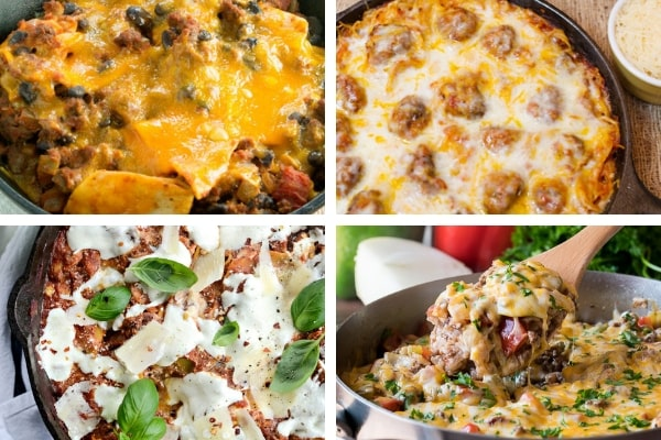 Grab your skillet and try one of these skillet casserole recipes for your next dinner. Hearty and yummy everyone will enjoy.