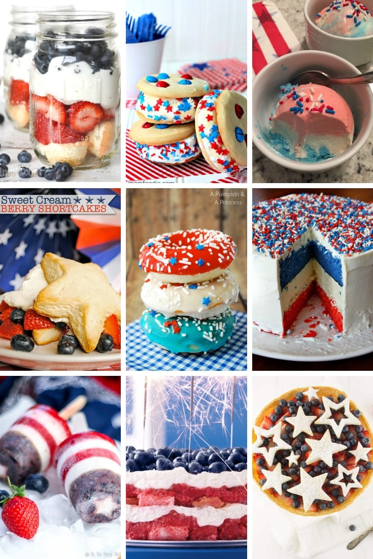 Patriotic dessert recipes to try for all the parties you will be hosting for your family, friends, neighbors this summer.