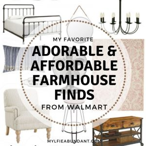 On a budget but want to have the farmhouse look? Check out my picks from Walmart farmhouse decor for adorable and affordable finds.