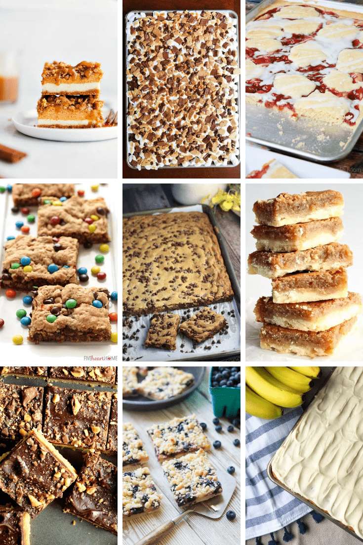 When it comes to pleasing a crowd, a sheet pan dessert is a perfect choice. So easy to make and travel with to any party or gathering.
