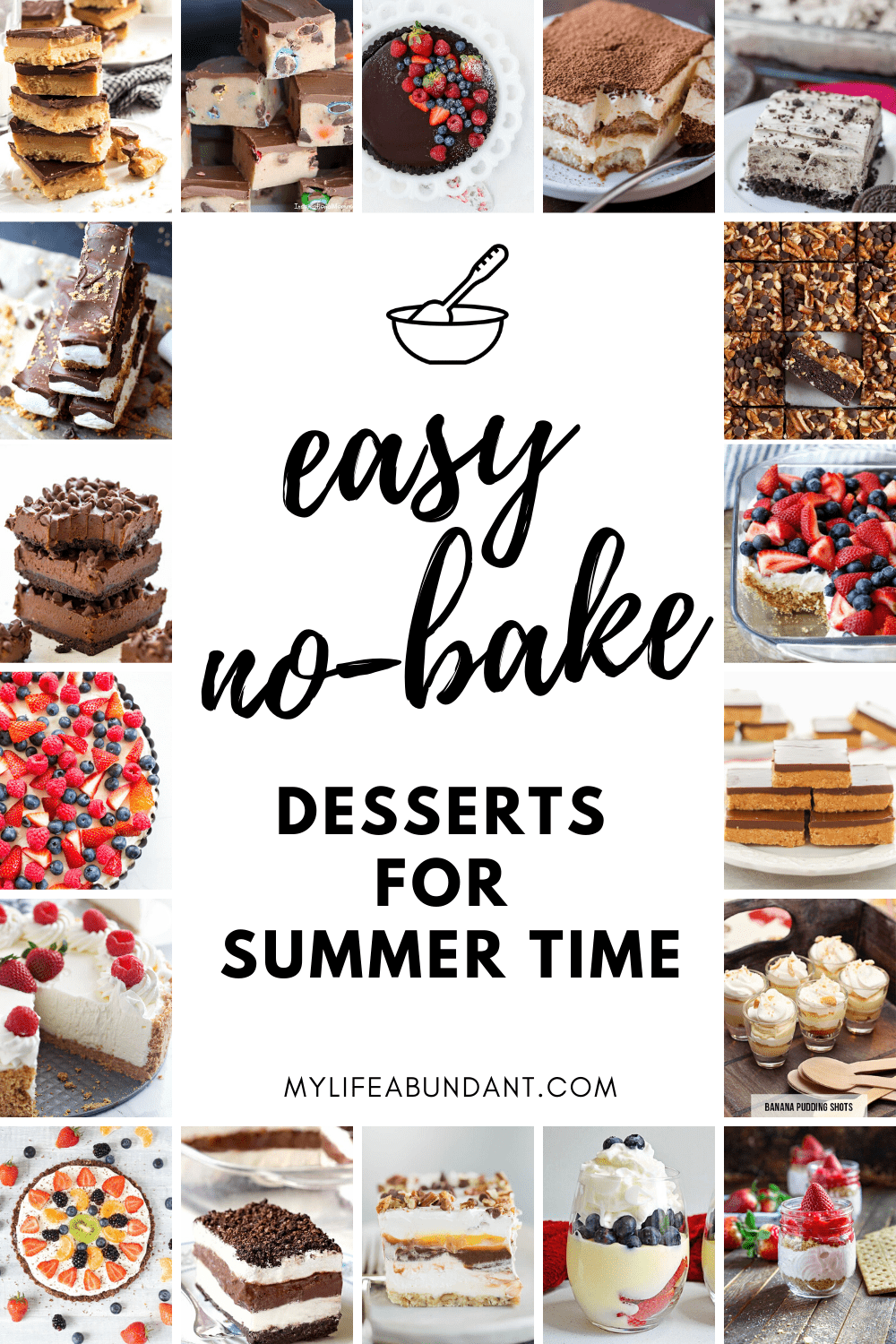 When it's too hot to turn on the oven, try making no-bake desserts for those lazy hot summer days to keep cool and enjoy.