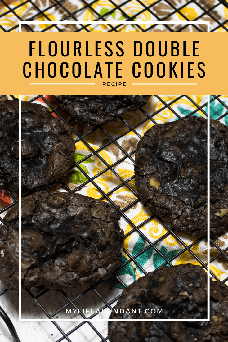 Chocolaty goodness is the only way to describe these cookies. Easy to make, flourless and will remind you of a gooey brownie.