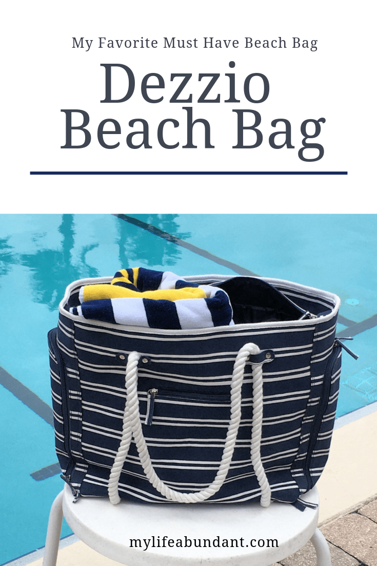 A must-have bag for any beach or pool trip that can hold everything you need, keep the sand out and keep your devices charged up.