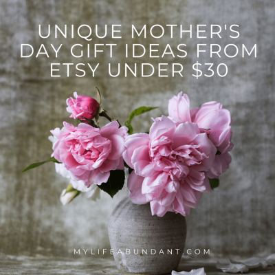 Looking for that special DIY gift idea for Mother's Day? Keepsake, home, garden and pampering ideas Mom will sure to love! #ad #EtsyAffiliates #mothersday