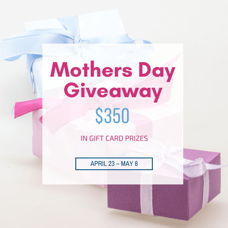 Come and enter the Mothers Day Giveaway! Enter for your chance to win gift cards totaling $410! Winners choice of gift card #giveaway #MothersDay #2019MothersDayGiveaway