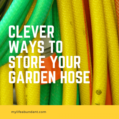 Try these DIY garden hose storage ideas to keep one of your most important yard tools put away!