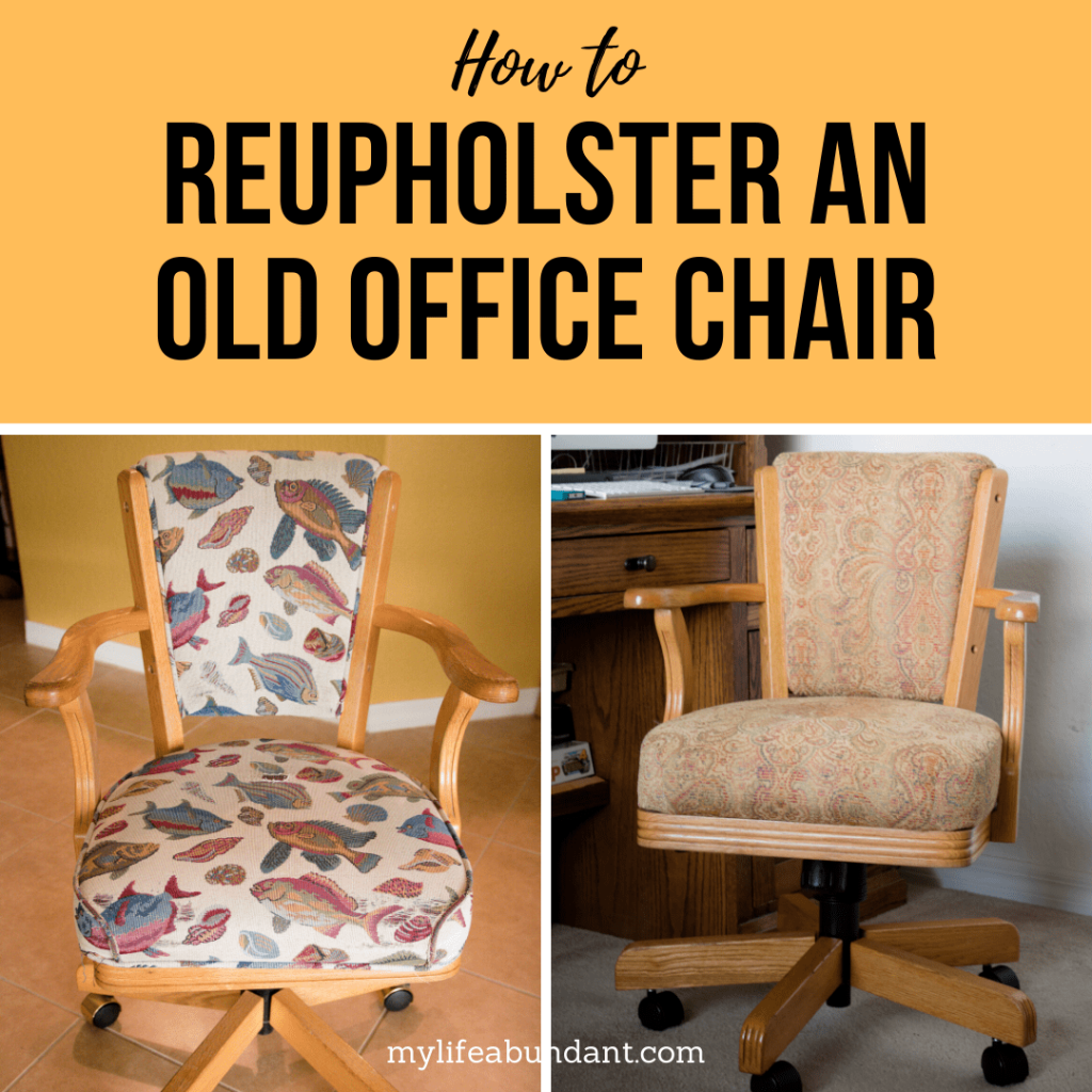 With a little bit of sewing knowledge, you can reupholster an old ugly office chair into something you will love for years.