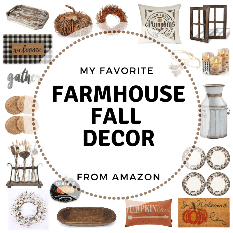 Fall is here and with just a few simple farmhouse fall ideas, you can turn your home into that warm and cozy fall feeling