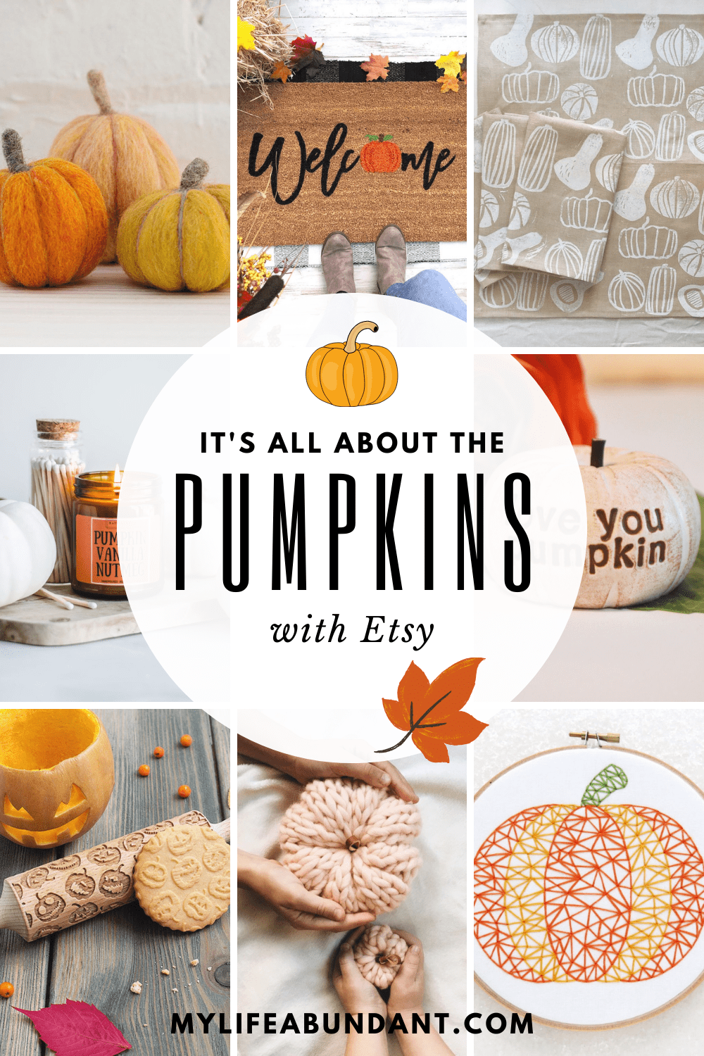 Decorating with pumpkins are so easy to do with all the choices you can find at Etsy.