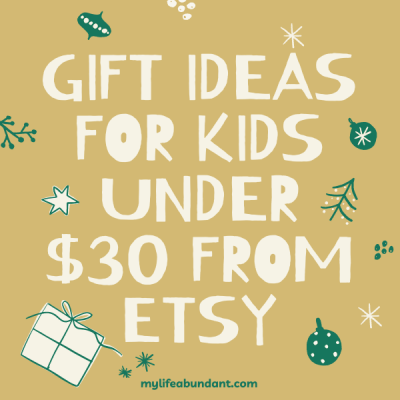 Unique gift idea under $30 for all the kids you have on your holiday list that you can only find at Etsy.